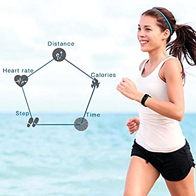 Cellay Real Time Heart Rate Monitor Bracelet,Smart Bluetooth Activity Tracker For Android IOS