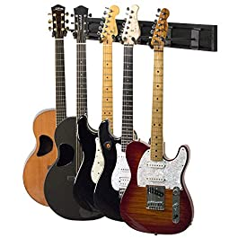 String Swing SW5RL-B-K Guitar Keeper Bundle with 5 Guitar Hangers & 1 Black Vein Strong Wall Mount