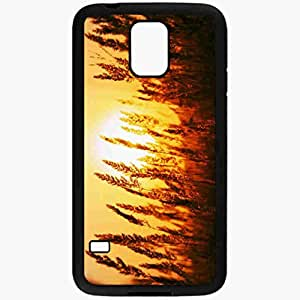 Unique Design Fashion Protective Back Cover For Samsung Galaxy S5 Case Beautiful Sunsets Nature Black
