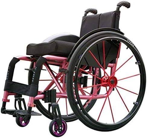 スポーツ車椅子、丈夫 耐久性 無効 軽量 折ります アルミニウム合金 クイックリリース マニュアル スポーツ 快適な 車いす