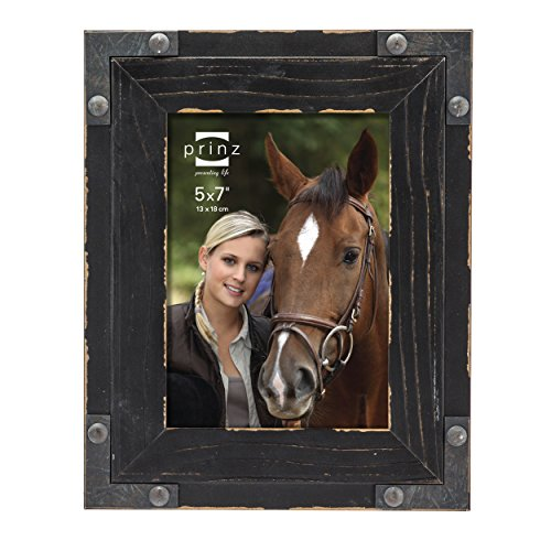 Prinz Brody Distressed Wood Frame with Faux Metal Corners, 5