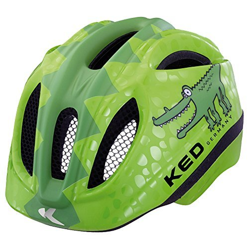 KED Fahrradhelm Meggy Reptile, Green Croco, 49-55 cm, 15409260SM