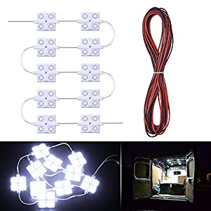 MICTUNING 12V 40 LEDs Van Interior Ceiling Light Kits for Trailers Lorries Sprinter Van Boats Truck