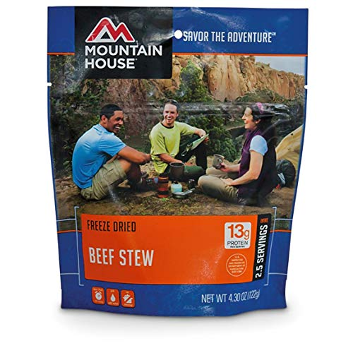 Mountain House Freeze-Dried Beef Stew, 2 Pouches