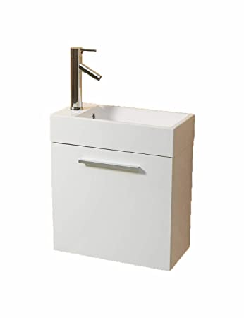 Vs Alexius White 20 X 10 Inch Small Bathroom Vanity Sink