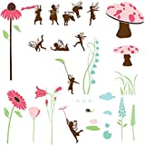 My Wonderful Walls Fairy Wall Stencils for Fairy Wall Mural for Girls Room or Baby Room