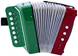 Paititi Kid's Accordion 7 Button 2 Bass Kid Music Instrument Easy to Play Musical Toy (Mx Flag)