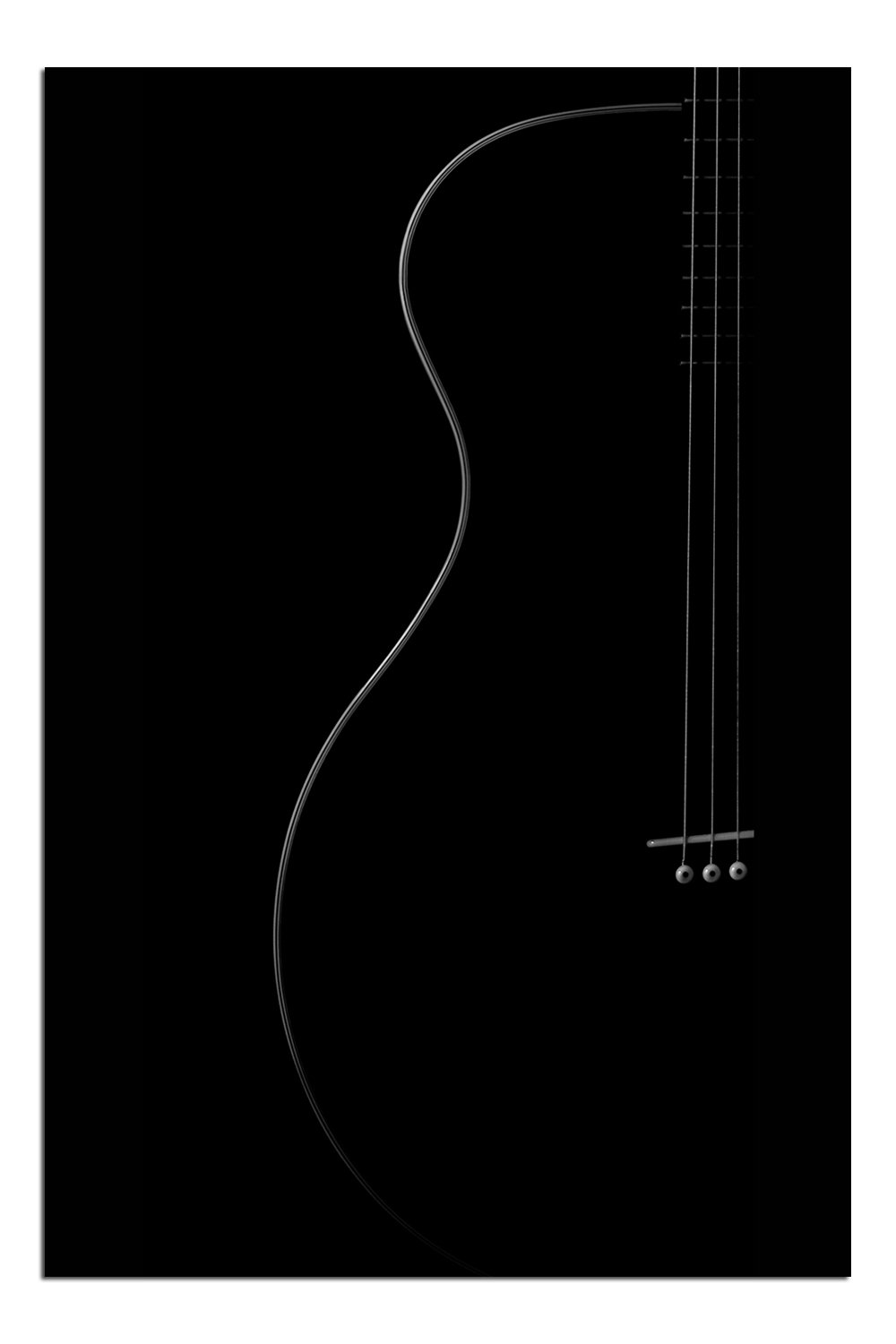 JP London Solvent Free Print PAPM1X483562 Curves Country Rock Acoustic Music Guitar Outline Ready to Frame Poster Wall Art 36 h by 24 w