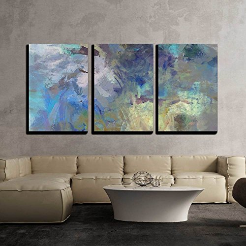 3 Piece Canvas Wall Art - Art Abstract Acrylic Blue Background