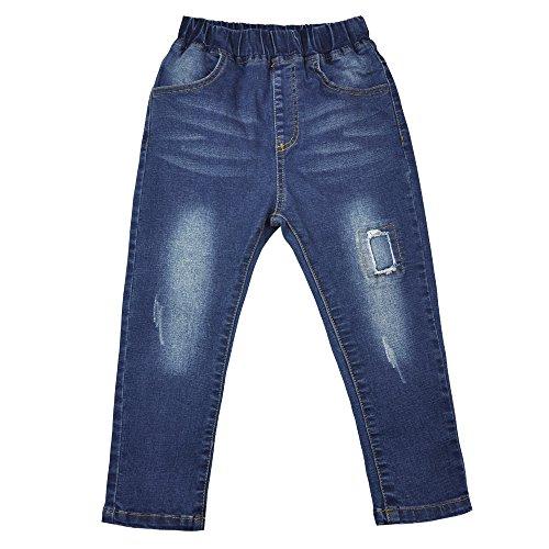 AIMBAR Kids Boys' Fashion Slim Elastic Waist Denim Pants Soft Jeans Age 4-13 Years (4-5 Years)