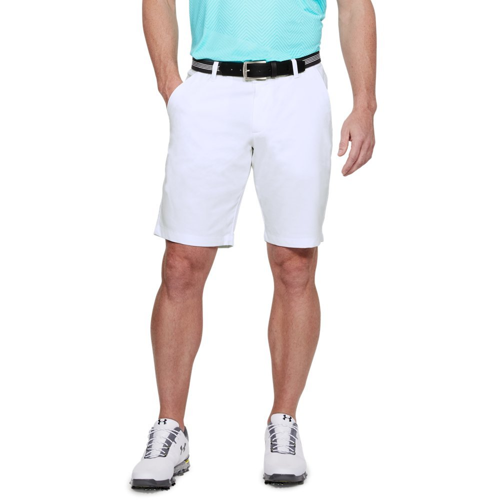 Under Armour Men's Showdown Tapered Golf Shorts, White (100)/White, 46 by Under Armour