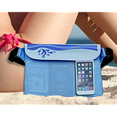 Waterproof Pouch (unique 2 compartments inside) – Waterproof Bag/Snowproof Bag/Dry Bag is Good for Beach, Swimming, boating, hiking, cycling & keeping Your Phone, passport, Valuable Dry & Safe