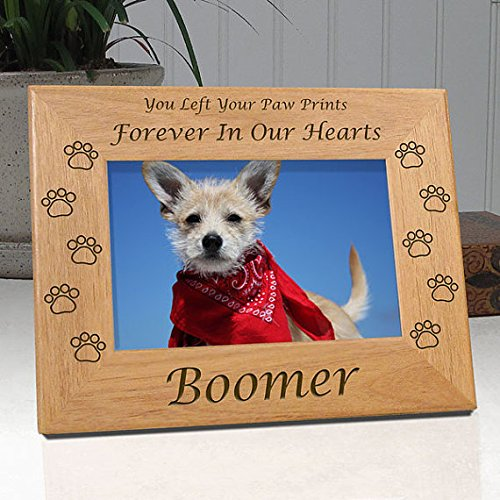 Personalized Dog Memorial Picture Frame - Engraved With Dog's Name - Quality Wood Frame Holds 4x6 Photo - Choice of 9 Different Quotes (Quote 2) - Free Sympathy Card & Gift Box! (Photo Frame Dog Personalized)