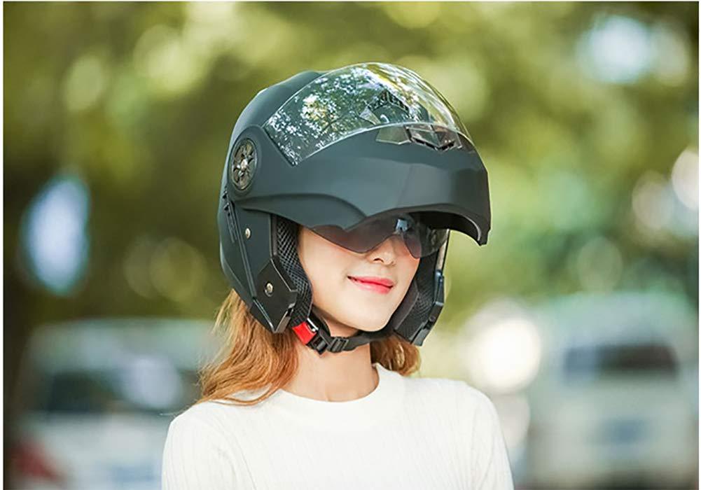 pour Adulte Homme et Femme Casque Jet ECE Homologu/é Casque /à Visage Ouvert avec Double Visi/ère 54-60cm LALEO R/églable Casque de Moto Int/égral