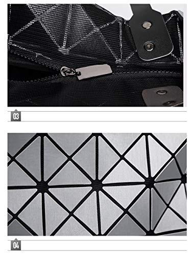 Borse Manici Mano Donna Chiusura Geometria Di A Mano Con Tinta Beige Mano Borsa A Borse Borse A Da A Nera Unita A Per Con Diamante Borsa 1 Laoling Moda qz4EPIw4