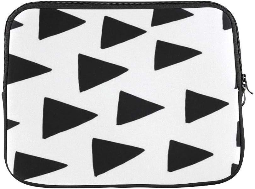 "Simple Design Black Triangles Pattern 15 Inch Macbook Pro Sleeve 15 Inch Laptop Sleeve Uitrabook Sleeve Case Macbook Protective Bag 15"""