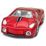 TDRTECH Wireless Mouse, 2.4GHz Cool Sport Car Shaped Mouse Optical Cordless Mice for Laptop Notebook PC Computer (Red)