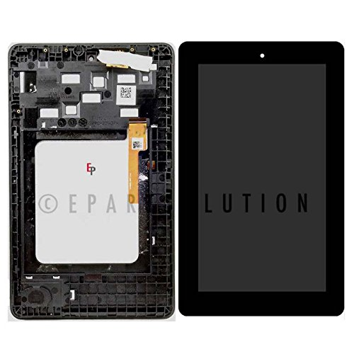 "ePartSolution_LCD Display Touch Screen Digitizer Glass + Frame Assembly for Amazon Kindle Fire 7.0"" 5th 2015 SV98LN Replacement Part USA Seller"