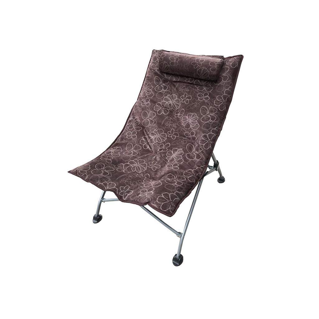 QZ HOME Stühle, Klappstuhl Sonnenliege Mittagspause Stuhl Bürostuhl Computer Stuhl Freizeitstuhl 5 Farben (Farbe : Braun)