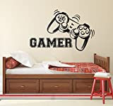 Gamer Wall Decal Vinyl Sticker Decals Game Controllers Gaming Video Game Boy Room Decor Bedroom Men Gift Nursery Dorm Gamer Gifts Decor x136