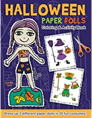 Halloween Paper Dolls Coloring And Activity Book: Dress up 3 different paper dolls in 20 fun costumes! Cut out, color, mix and match outfits!