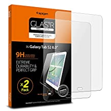 Galaxy Tab S2 Screen Protector, Spigen®[8.0 inch - Tempered Glass] [2 Pack] Samsung Galaxy Tab S2 [8.0 inch] Glass Screen Protector [Easy-Install Wing] - 2 Pack