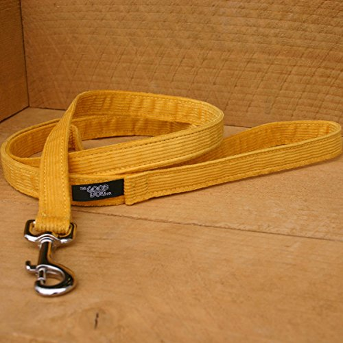 Good Dog Company Hemp Corduroy Leash, 6' Length, 3/4