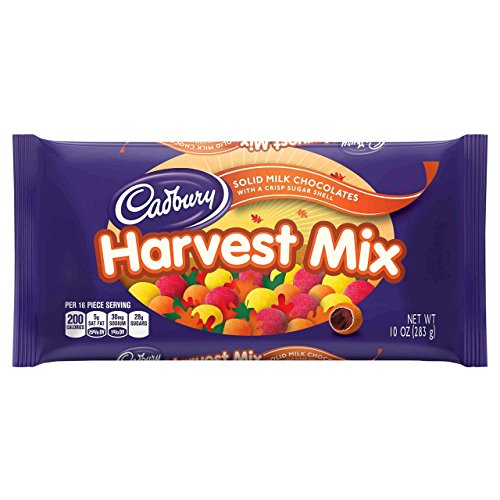 Cadbury Harvest Halloween Mix Milk Chocolate Candies - 10oz ()