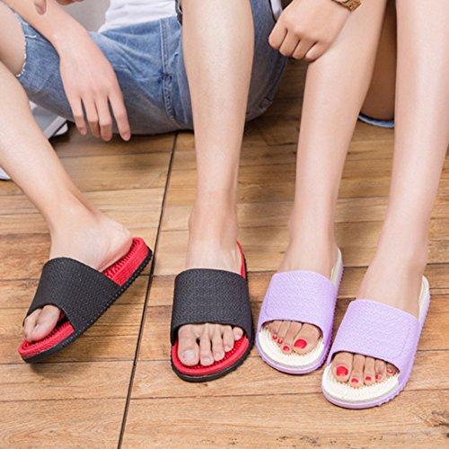 Slipper red Black Spa Slipper Massage Sandal Bathroom Shoes Shower XINGYUE w8tzPSWqP