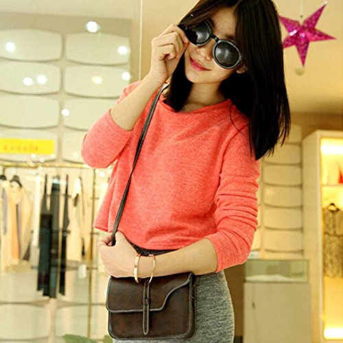 Body Messenger Handle Bag Bag Leather Leisure Coffee Shoulder Crossbody Paymenow Cross Bag Little Shoulder Rw6qHvc