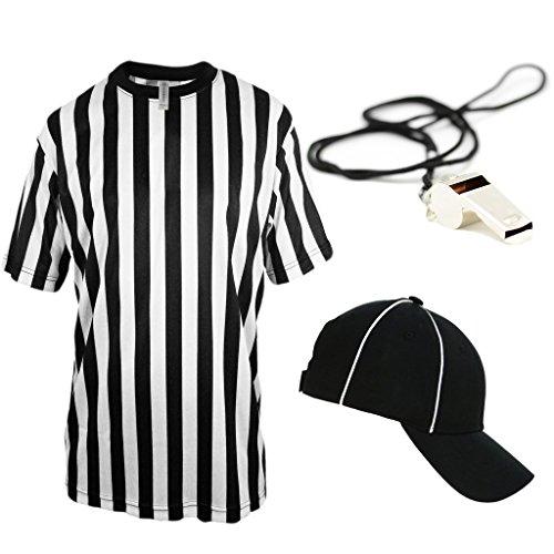 Mato & Hash Children's Referee Shirt Ref Costume Toddlers Kids Teens - Ref Set CA2004K S CA2099 V S/M RW1000
