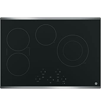 GE JP5030SJSS 30u0026quot; Stainless Steel Electric Smoothtop Cooktop
