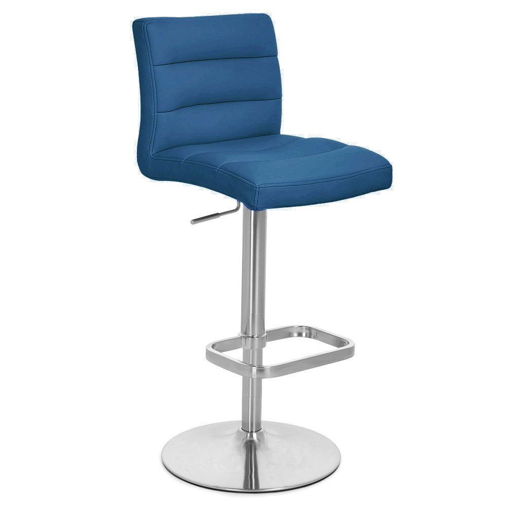 Amazon com dark blue lush adjustable height swivel armless bar stool kitchen dining