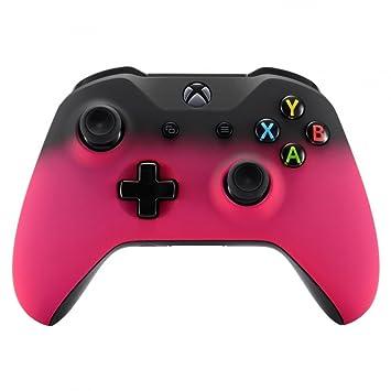 eXtremeRate Carcasa mando Xbox One S/X Accesorios Protectora Placa Frontal Suave al tacto Funda Delantera Kit de reemplazo Cubierta Shell para Mando ...