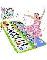 NEWSTYLE Muziek Piano Mat voor Kinderen, Kinderen Touch Spelen Toetsenbord Muzikaal Tapijt Piano Vloermat Dansmat, Vroege Educatieve Muzikale Geschenken voor Kinderen (135 * 59 cm)