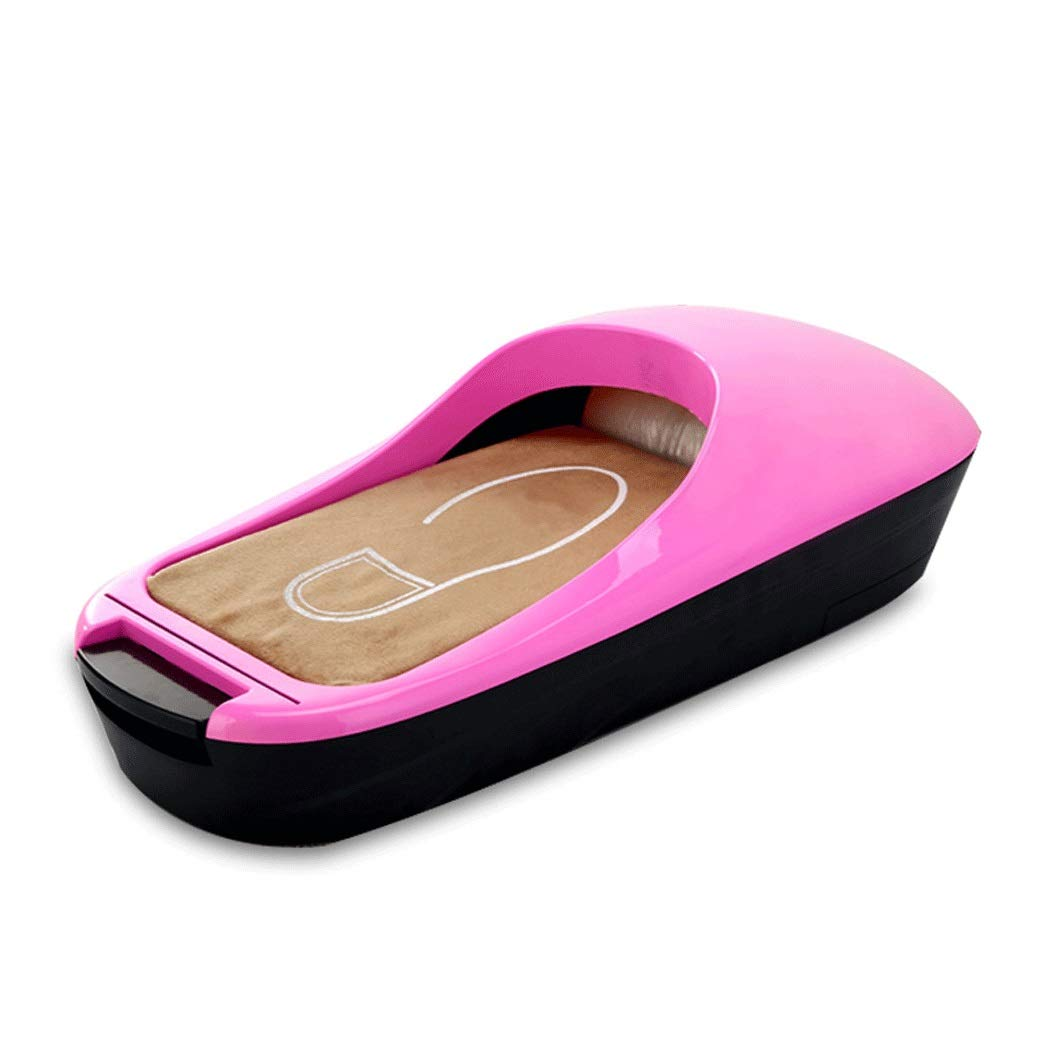 Yongyong ABS New Plastic Automatic Shoe Cover Machine Office Household Foot Machine Disposable Shoe Film Machine 58 25 18cm (Color : Pink)