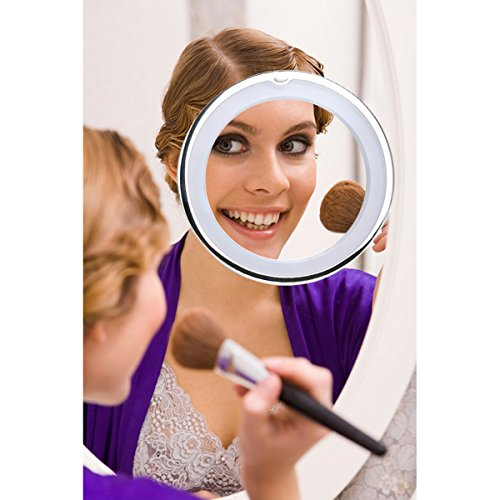 -[ RUIMIO Makeup Mirror 7X Magnifying Lighted Makeup Mirror with Suction Base  ]-