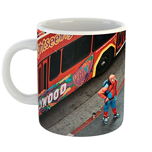 Westlake Art Bus Costume - 11oz Coffee Cup Mug - By Modern Picture Photography Artwork Home Office Birthday Gift - 11 Ounce (New Spiderman Costume Images)