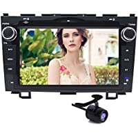 8 inch Android 6.0 Car Stereo Kit for Honda CRV CR-V 2007 2008 2009 2010 2011 Android Navigation System RK3188 Quad Core 1024X600 Display Auto Radio CD DVD Player with Back Up Camera