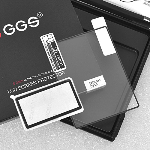 GGS LARMOR Self-Adhesive Optical Glass LCD Screen Protector for Nikon D850 - Transparent by GGS