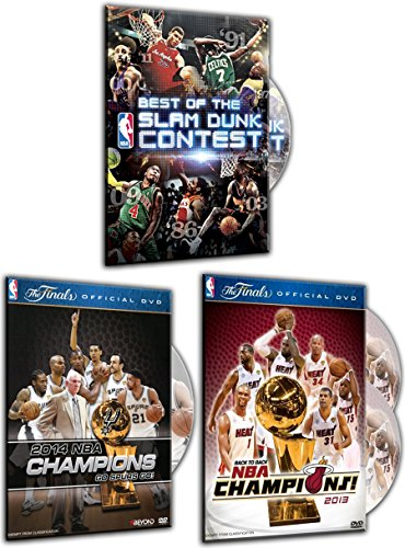 Best of the NBA Slam Dunk Contest, 2014 NBA Championship: Highlights, 2013 NBA Championship: Highlights (Blu-ray / DVD Combo) (3 DVDs Pack) (Nba Blue Ray)