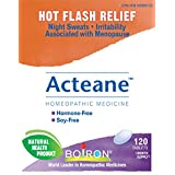 Boiron Acteane, 120 Tablets, Homeopathic Medicine for hot flashes, night sweats and irritability associated with menopause