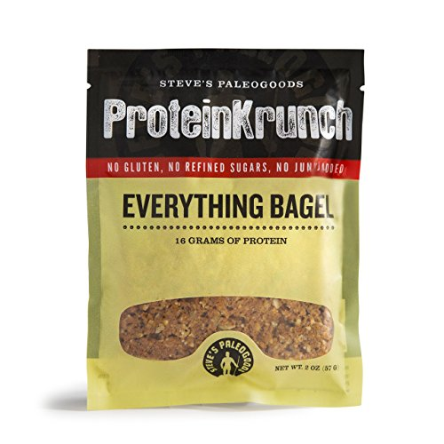 Steves PaleoGoods, ProteinKrunch Bar Everything Bagel, 2 oz (Pack of 3)