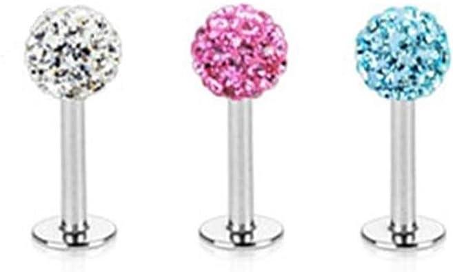 Paula & Fritz® – Piercing de Labio Labret Monroe Cristales Ferido ...