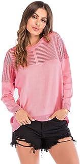 Abbigliamento Donna Primavera Autunno Inverno Moda Morbido E Confortevole Felpa Traspirante Manica Lunga Cuciture Hollow vestibilità Aderente Manica Lunga Colore Solido Cappotto Rosa
