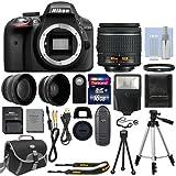 Cámara Nikon D3300 + 18-55mm + 2 Lentes + 16gb + 14 Accesorios
