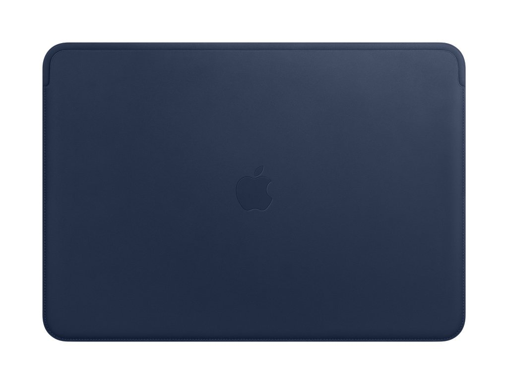 Apple Leather Sleeve (for MacBook Pro 15-inch Laptop) - Midnight Blue