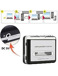 Reshow Cassette Player   Reproductor de cinta portátil Captura MP3 Audio Music a través de USB   Compatible con portátiles y ordenadores personales   Convierte Cassettes de cinta Walkman en formato iPod