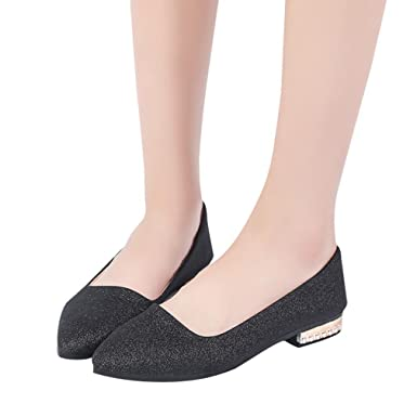 c06d3dbca4f BeautyVan—— Women Casual Pointed Shallow Mouth Shoes Pointed Toe Ladies  Shoes Low Heel Flat