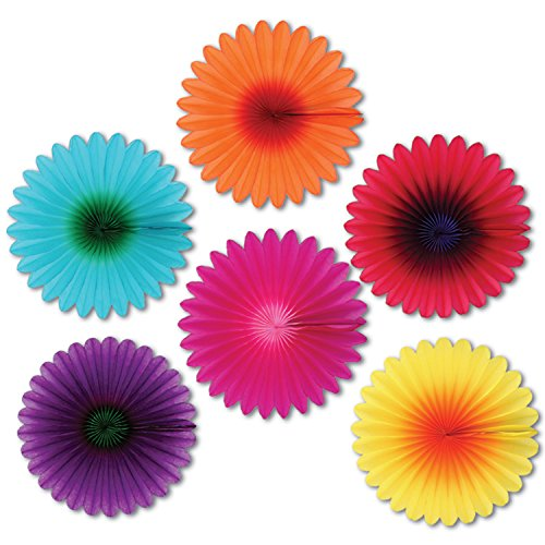Mini Flower Fans Party Accessory (1 count) -